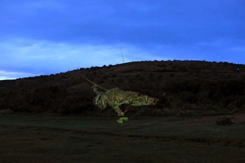 Estamos condenados al paisaje entrópico de los desiertos, y la experiencia sonora que sugiere el paisaje de árboles se ha convertido en la extendida figuración de una horrenda jirafa portando una ristra de salchichas.